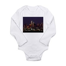 Dallas Skyline at Night Body Suit
