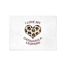 LOVE MY CATAHOULA LEOPARD 5'x7'Area Rug