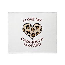 LOVE MY CATAHOULA LEOPARD Throw Blanket