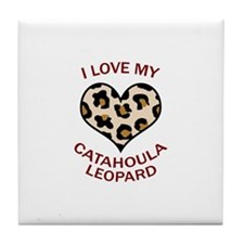 LOVE MY CATAHOULA LEOPARD Tile Coaster