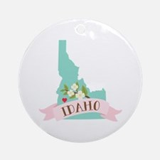 Idaho Flower Syringa Ornament (Round)