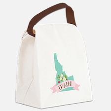 Idaho Flower Syringa Canvas Lunch Bag