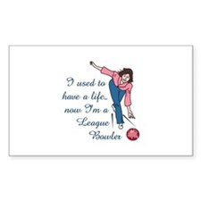 LEAGUE BOWLER Decal
