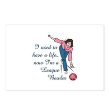 LEAGUE BOWLER Postcards (Package of 8)