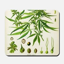 Cannabis or Hemp Illustration Mousepad
