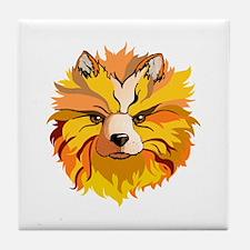 MYSTICAL DOG Tile Coaster