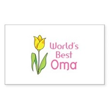 WORLDS BEST OMA Decal