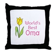 WORLDS BEST OMA Throw Pillow