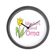 WORLDS BEST OMA Wall Clock
