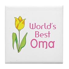 WORLDS BEST OMA Tile Coaster