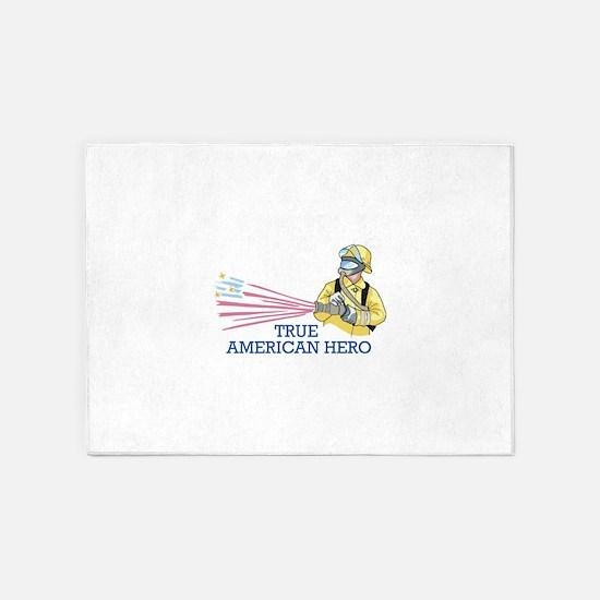 TRUE AMERICAN HERO 5'x7'Area Rug