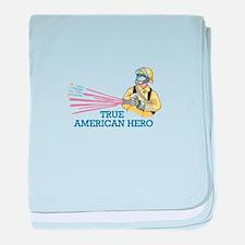 TRUE AMERICAN HERO baby blanket
