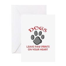 DOG PAW PRINT Greeting Cards