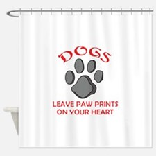DOG PAW PRINT Shower Curtain