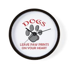 DOG PAW PRINT Wall Clock