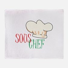 SOUS CHEF HAT Throw Blanket