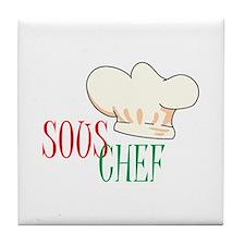 SOUS CHEF HAT Tile Coaster