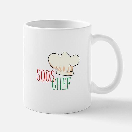 SOUS CHEF HAT Mugs