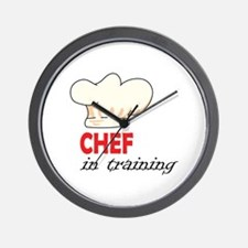 CHEF IN TRAINING HAT Wall Clock