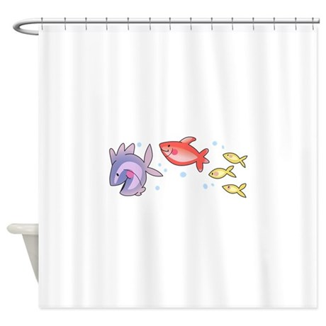 Fish swimming shower curtain by greatnotions19 Swimming pool shower curtain