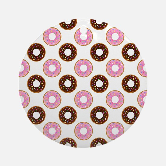 DONUTS, GO NUTS! Ornament (Round)