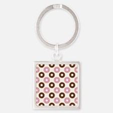 DONUTS, GO NUTS! Square Keychain