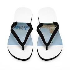 New York City Skyline Flip Flops
