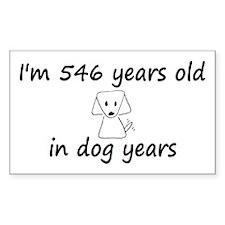 78 dog years 6 - 3 Decal