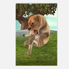 Hunting Lioness Postcards (Package of 8)