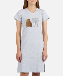 Hooray for GROUNDHOG day! Women's Nightshirt