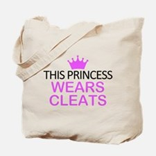This Princess Wears Cleats Tote Bag