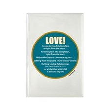 Wonderful Life - Love! Rectangle Magnet (100 pack)
