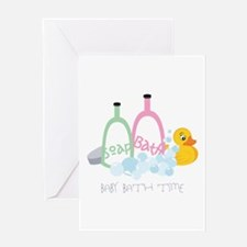 Baby Bath Time Greeting Cards