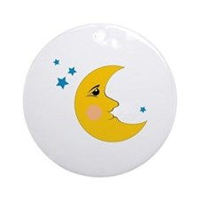 Moon & Stars Ornament (Round)