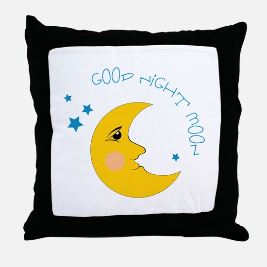 Good Night Moon Throw Pillow