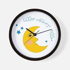 Good Night Moon Wall Clock