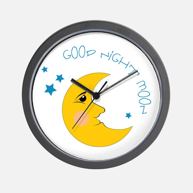 Good Night Moon Wall Clock