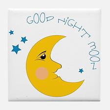 Good Night Moon Tile Coaster