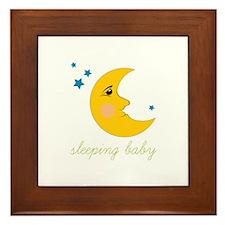 Sleeping Baby Framed Tile