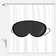 Sleeping Mask Shower Curtain