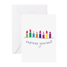Express Yourself Border Greeting Cards