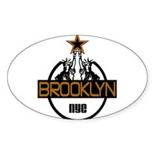 """Brooklyn Liberty Logo"" Oval Decal"