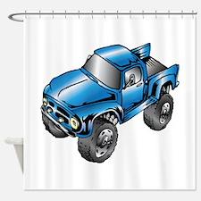 Funny Monster truck Shower Curtain