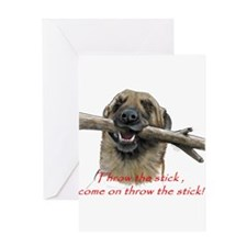 come on throw the stick Greeting Cards