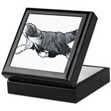 Bearded collie Square Keepsake Boxes