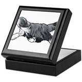 Bearded collie Keepsake Boxes