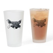 bearded collie Drinking Glass