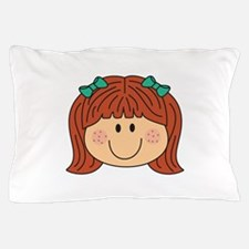 Girl With Freckles Pillow Case