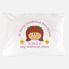 Face Without Freckles Pillow Case