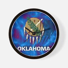 Oklahoma State Flag Wall Clock